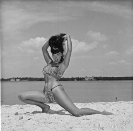 Bunny Yeager, 'Bettie on Beach', 1955