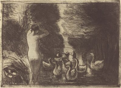 Camille Pissarro, 'Baigneuse aux oies (Bathers with Geese)', 1895