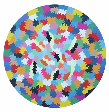 Ferruccio Gard, 'MOSTRA Abstract chromatism in round shape', 2018