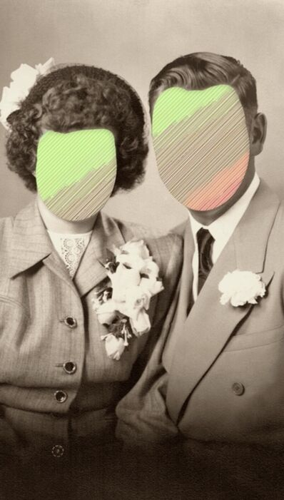 Andrea Wolf, 'Faces, Traces (couple)', 2018