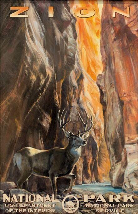 Jennifer Johnson, 'Zion National Park Buck', 2020