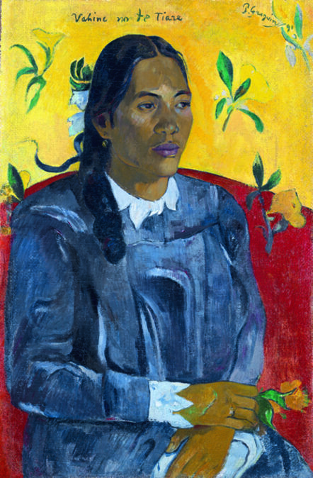 Paul Gauguin, 'Tahitian Woman with a Flower', 1891