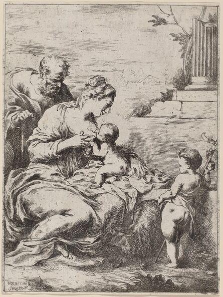 Bartolomeo Biscaino, 'The Holy Family with Saint John'