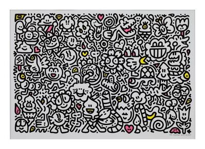 Mr. Doodle, 'Candy Flowers', 2019