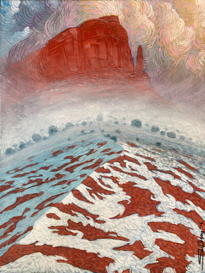 Shonto Begay, 'Beneath Her Blanket of Ice', 2016