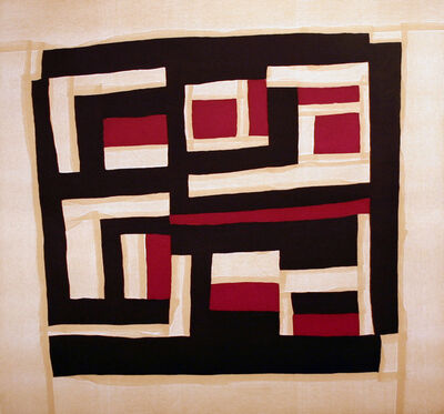 Mary Lee Bendolph (Gee's Bend), 'Housetop Blocks/Purple', 2005