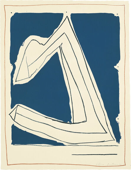 Robert Motherwell, 'Summertime in Italy (with Lines)', 1966