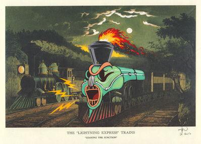 Victor Castillo, 'The Lightning Express Trains, , 13, 1/4 x 16 in (33,6 x 40,6 cm) Framed, 2017', 2017