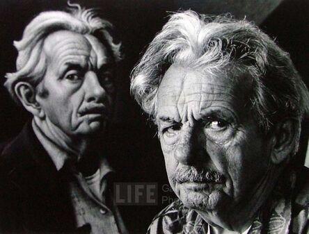 Alfred Eisenstaedt, 'Thomas Hart Benton Stands in Front of Self-Portrait'