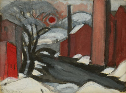 "Oscar Bluemner, 'Study ""Winter Sun"" Mill Creek, Elizabeth, New Jersey', 1925"