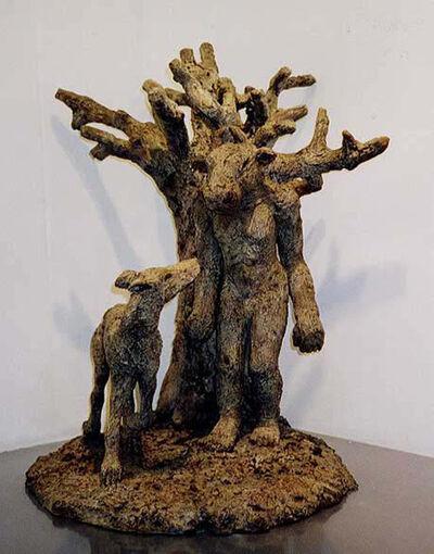 Sophie Ryder, 'Minotaur, Dog and Tree', 1999