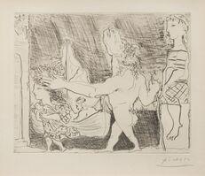 Pablo Picasso, 'Minotaure aveugle guide dans la nuit par une petite fille au pigeon (from La Suite Vollard) 1934 (published 1939)'