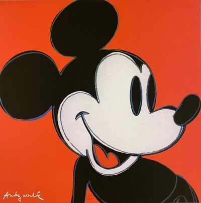 Andy Warhol, 'Mickey Mouse (Red)', 1986
