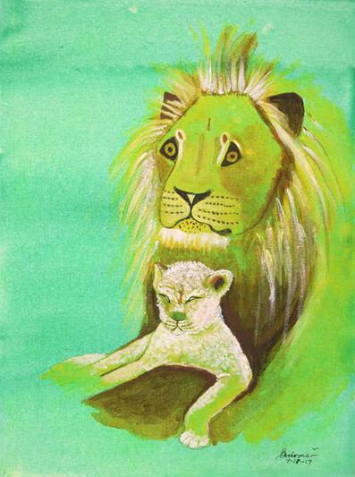 Guiomar Giraldo-Baron, 'Baby Lion and Father', 2017