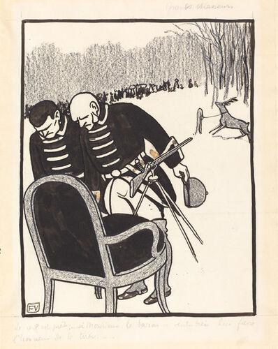 Félix Vallotton, 'Grands Chasseurs--Le Cerf est prêt', 1903