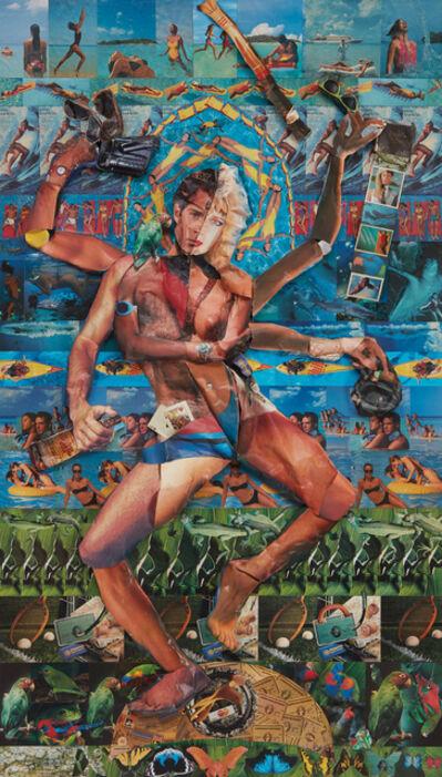 Robert Heinecken, 'Shiva, the Lord Whose Half Is Woman', 1990