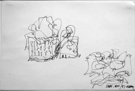 Frank Gehry, 'Preliminary Sketch for Peter B. Lewis Building, Weatherhead School of Management, Case Western Reserve University, Cleveland, Ohio', 1997