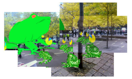 Will Pappenheimer, 'OWS Bufo Protest @ Zucotti Park', 2011