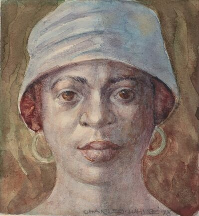 Charles White, 'Woman with Hat', 1978