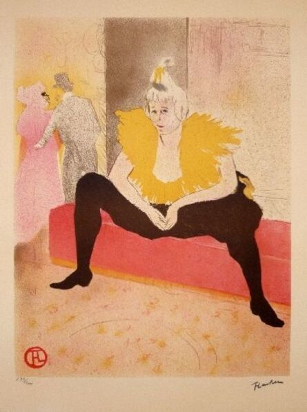 Henri de Toulouse-Lautrec, 'La Clownesse assise', 1982
