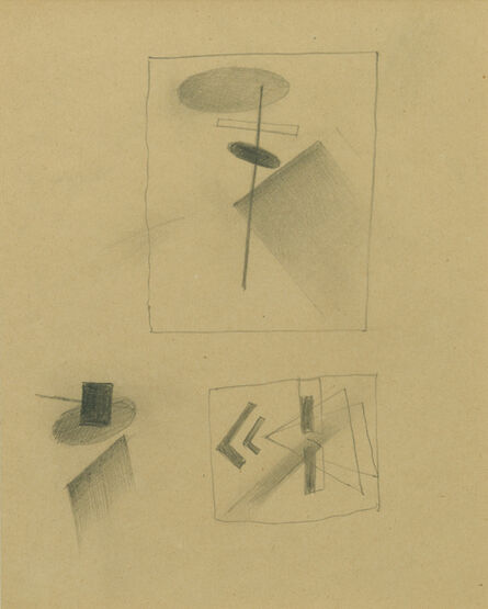 Kasimir Severinovich Malevich, 'Composition with plan for dissolution and magnetic elements', 1918