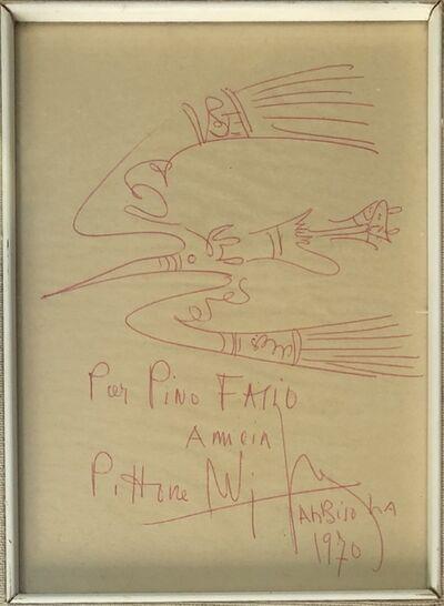 Wifredo Lam, 'Fresh sketch', 1970