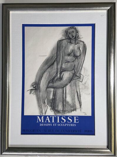 Henri Matisse, 'Matisse, Dessins et Sculptures, Berggruen, 70 Rue de L'Universite, Paris Gallery Poster', 1958