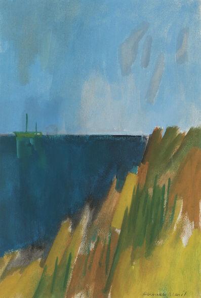 Herman Maril, 'Dark Sea with Green Boat', 1979