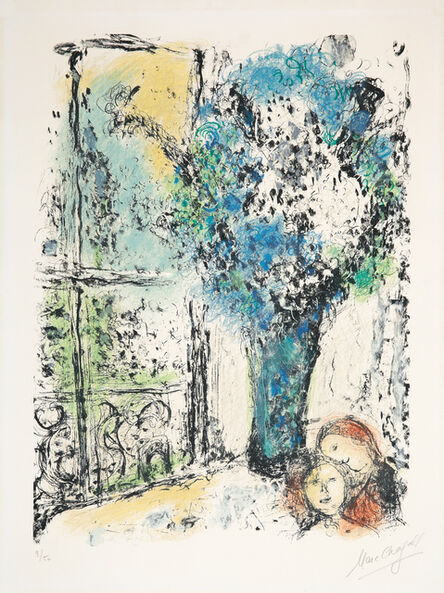 Marc Chagall, 'Le bouquet bleu', 1974