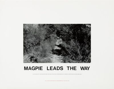 Hamish Fulton, 'Magpie Leads the Way', 1989