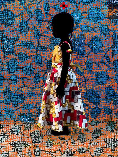 Saidou Dicko, 'Notre princesse T Fleurs oranges', 2021