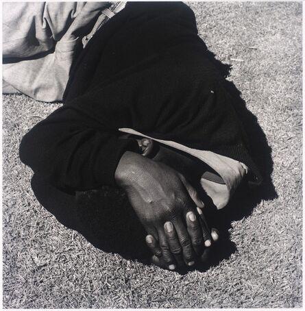 David Goldblatt, 'Man sleeping, Joubert Park, Johannesburg. 1975, from the series Particulars', 1975; printed 2010