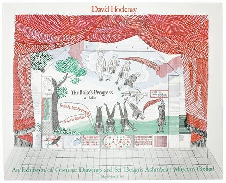 David Hockney, 'Ashmolean Museum 1981 (Curtain for The Rake's Progress Epilogue 1974-75)', 1981