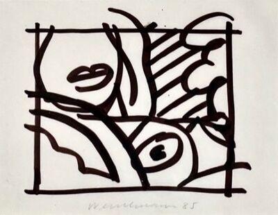 Tom Wesselmann, 'Sketch for Bedroom Blonde with Lavendar Wallpaper', 1985