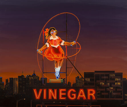 Jim Thalassoudis, 'Little Audrey skipping over Melbourne', 2015
