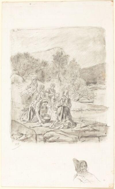 Félicien Rops, 'Washerwomen', ca. 1884-1887