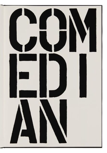 Christopher Wool, 'Comedian (page from Black Book) ', 1989