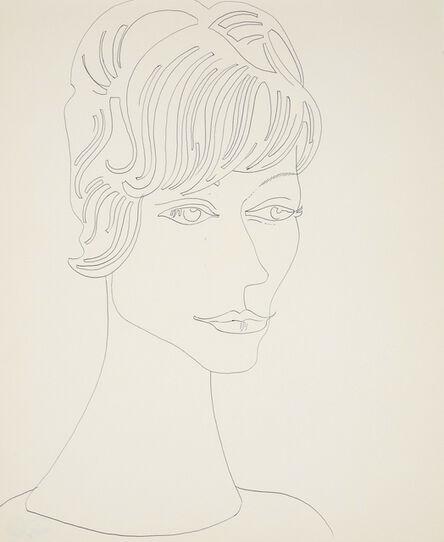 Andy Warhol, 'Portrait of a lady', 1955