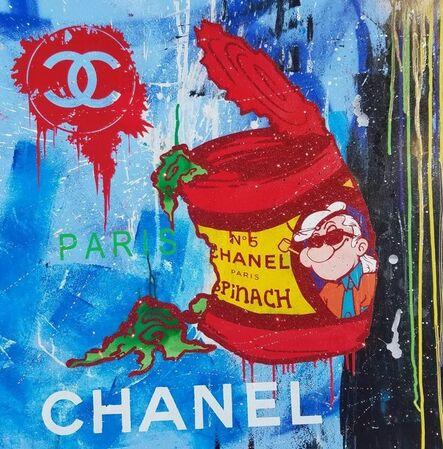 Skyler Grey, 'Chanel Karl Popeye Blue Paris', 2016