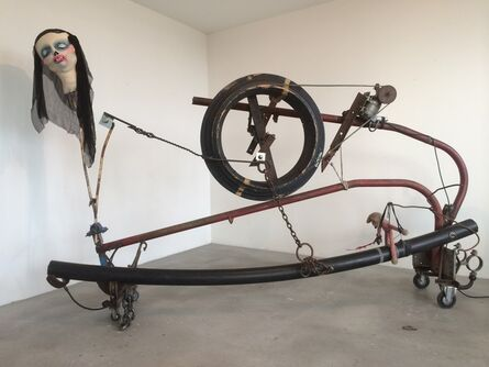 """Jean Tinguely & Eva Aeppli, '""""Komm mit mir in den siebten Himmel der Liebe""""/""""Samurai an der Öllampe""""', 1985-1991"""