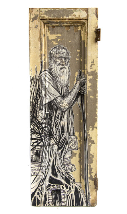 Swoon, 'Milton II (Diogenes) 7', 2018