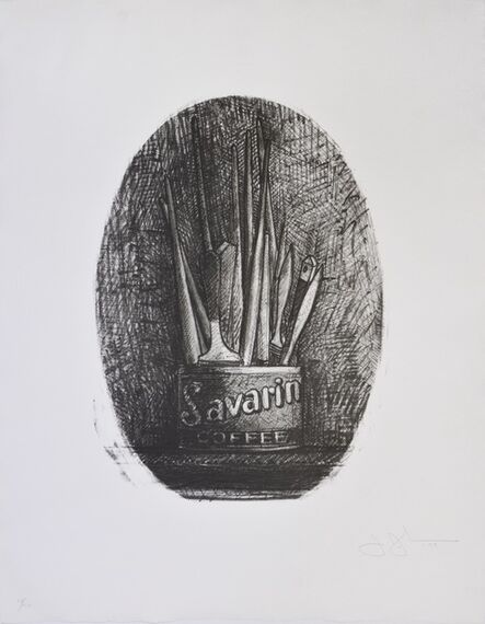 Jasper Johns, 'Savarin 4, Oval', 1978