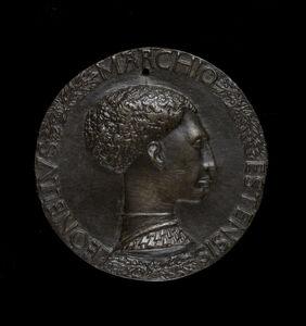 Pisanello, 'Leonello d'Este, 1407-1450, Marquess of Ferrara 1441 [obverse]', ca. 1440/1444