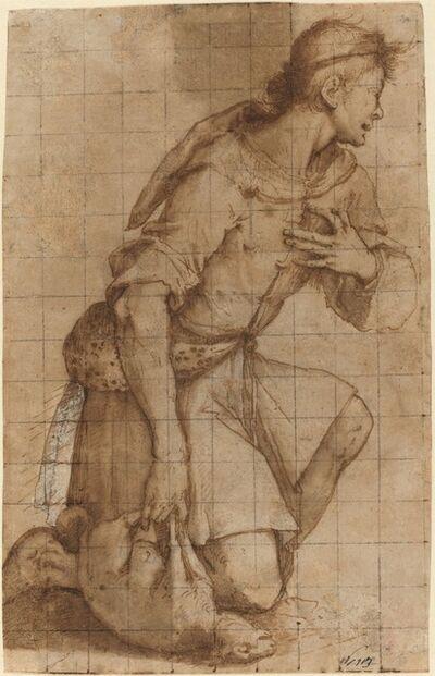 Jacopo Ligozzi, 'Kneeling Shepherd'