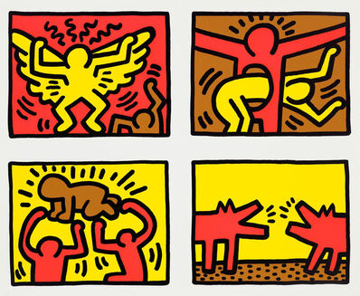 Keith Haring, 'Pop Shop Quad IV', 1989