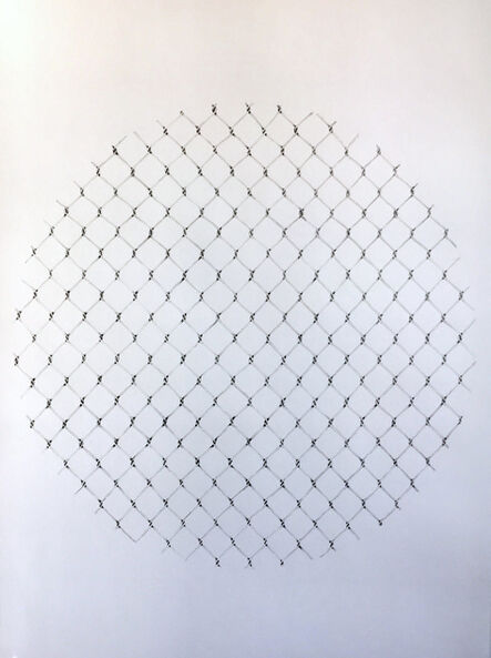 Kiki Gaffney, 'Chain Link Fence Mandala', 2016