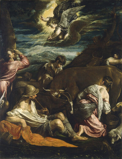 Jacopo Bassano, 'The Annunciation to the Shepherds', probably 1555/1560
