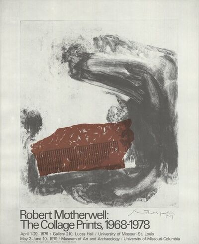 Robert Motherwell, 'The Collage Prints, 1968-1978', 1979