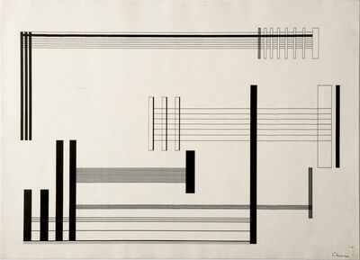 Lothar Charoux, 'Composiçao - elementos perpendiculares', 1956