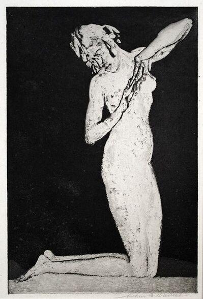 Arthur Bowen Davies, 'Dawn (or, Kneeling Figure)', 1918